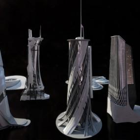 现代建筑3D模型【ID:726233632】