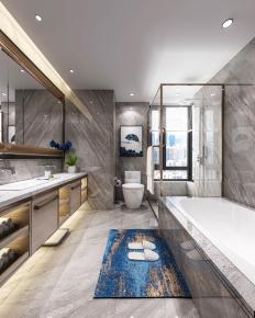 现代浴室卫生间3D模型【ID:927831588】