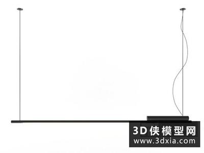 現代時尚吊燈國外3D模型【ID:829675797】