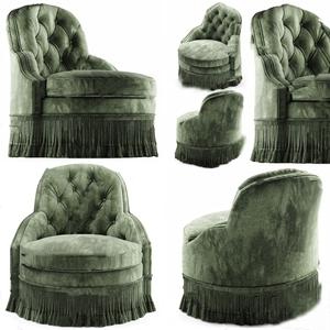 简欧绒布单人沙发3D模型【ID:931949618】