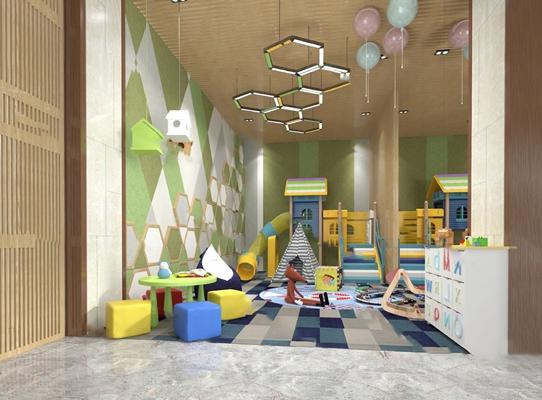 现代幼儿园3D模型【ID:724892545】