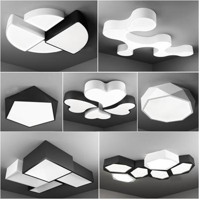 现代创意吸顶灯组合3D模型【ID:628044038】
