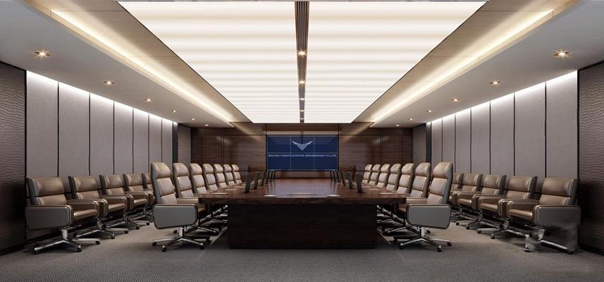 现代大会议室3D模型【ID:728097866】
