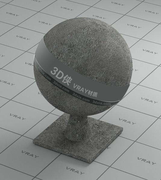 灰色混泥土Vray材質【ID:736453716】