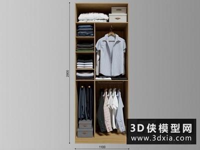 衣服模型組合國外3D模型【ID:929389668】