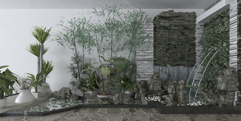 中式景观小品3D模型【ID:124881818】