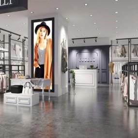 现代服装店3D模型【ID:528026425】