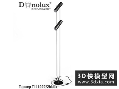 現代落地燈國外3D模型【ID:929366035】