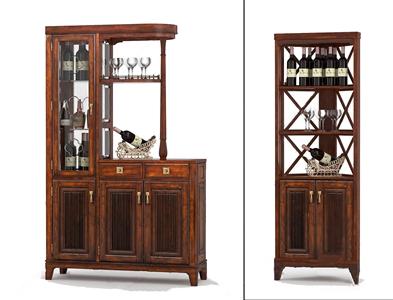 美式酒柜组合3D模型【ID:641354222】