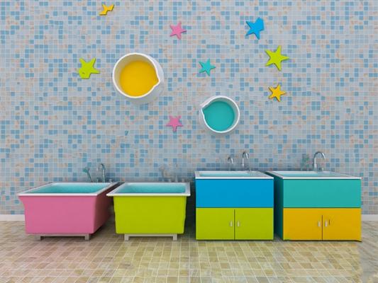 现代浴缸3D模型【ID:220612067】
