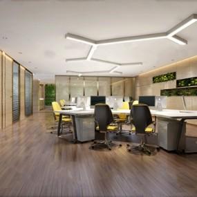 现代办公室3D模型【ID:124888221】
