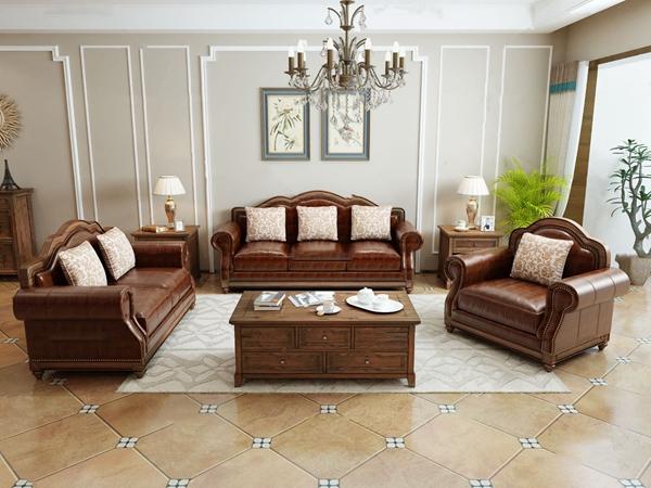 美式組合沙發3D模型【ID:645512760】