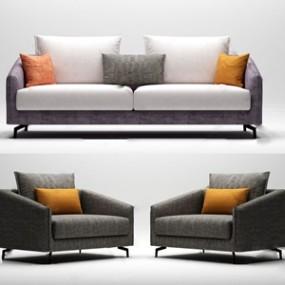 现代百利家居多人沙发 3D模型【ID:641633732】