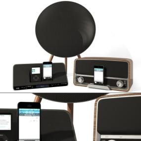 现代古典音响手机播放器3D模型【ID:328438165】
