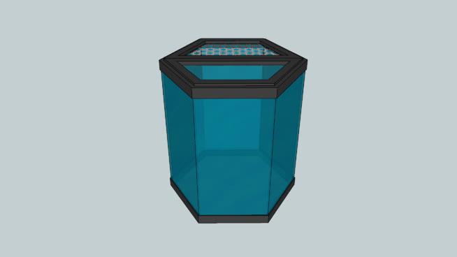 20加仑六角形水族箱SU模型【ID:739862569】