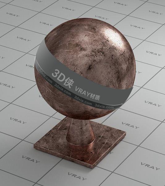棕色金屬Vray材質【ID:736453674】