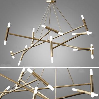 现代吊灯3D模型【ID:224883842】