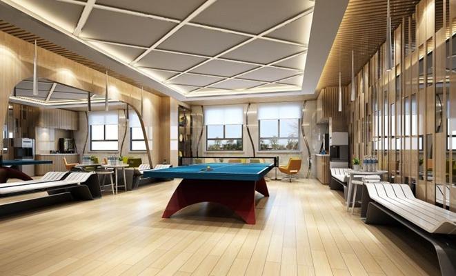 乒乓球館3D模型【ID:327913064】