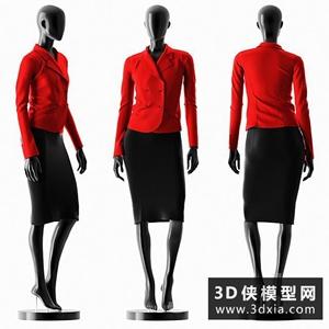 女裝模特國外3D模型【ID:929319662】