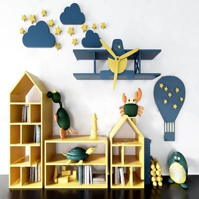 儿童书柜3D模型【ID:134043536】