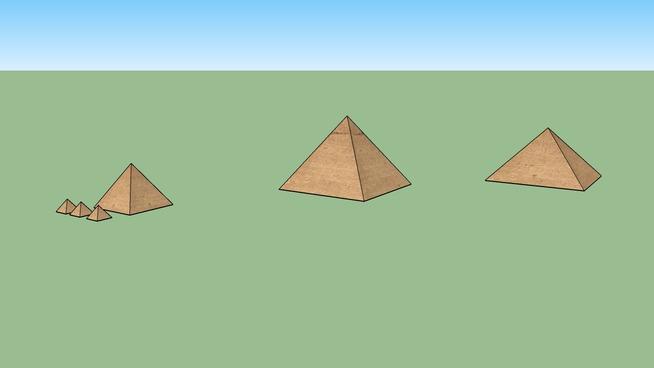 吉薩金字塔SU模型【ID:739865496】