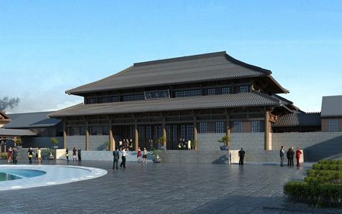 中式建筑3D模型【ID:820832588】