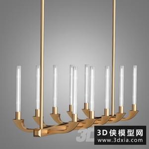 现代餐厅吊灯国外3D模型【ID:829319721】