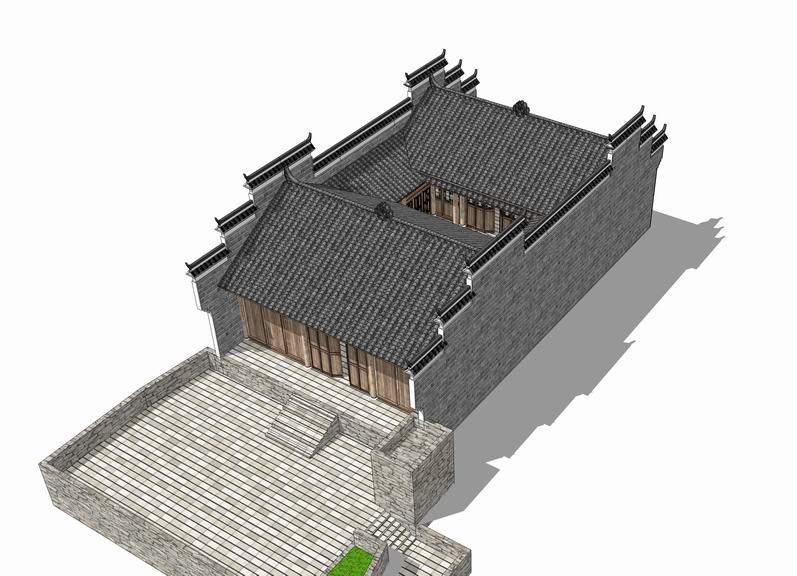 中式民居SU模型【ID:236401132】
