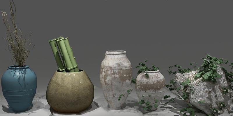 中式陶罐3D模型【ID:920604007】