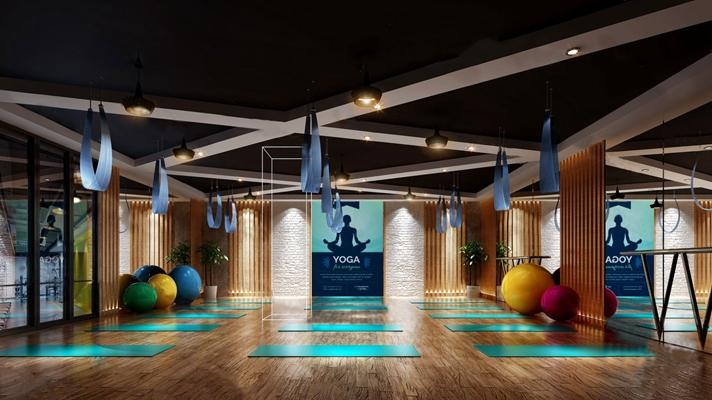 现代瑜伽室3D模型【ID:124892272】