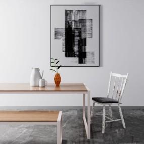 北歐餐桌椅3d模型【ID:846658834】