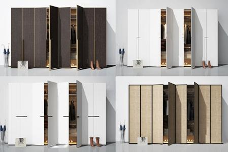 现代实木衣柜3D模型【ID:931409922】