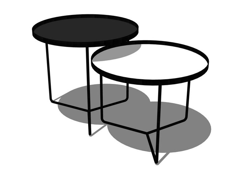 茶幾SU模型【ID:636401463】