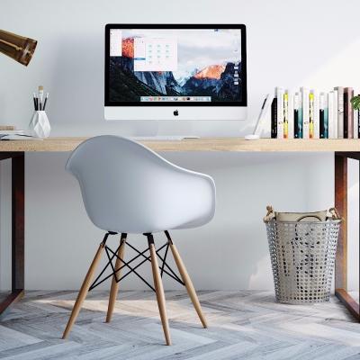 北欧实木书桌3D模型【ID:128406960】