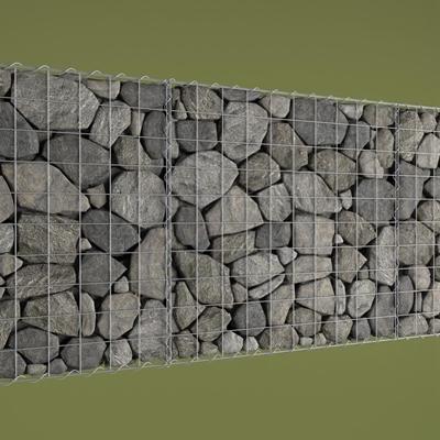 高精度石头墙体3D模型【ID:127845143】