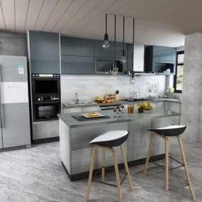 现代厨房3D模型【ID:528273020】