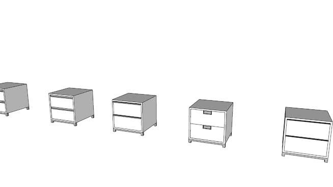 小型床頭柜SU模型【ID:939875219】