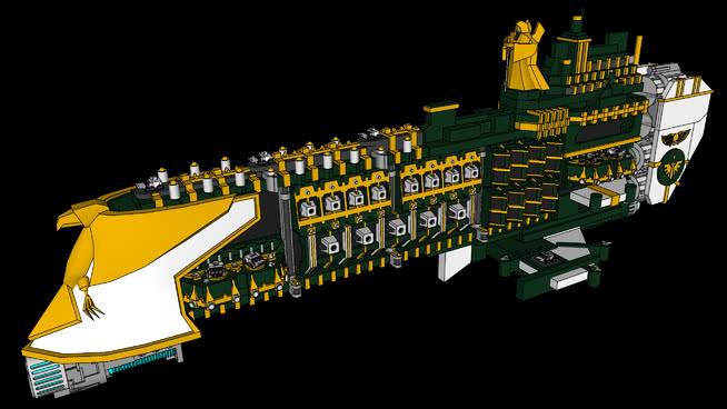 KITBASH:帝國無畏艦SU模型【ID:839875462】