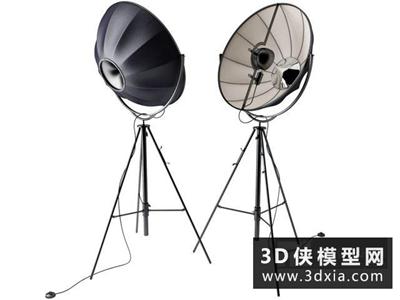 現代落地燈國外3D模型【ID:929432040】