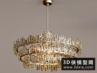 現代吊燈國外3D模型【ID:829474797】