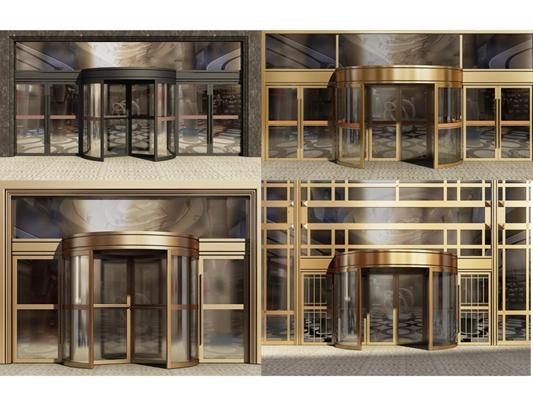 酒店旋轉門自動門組合3D模型【ID:427940835】