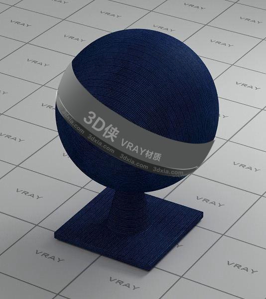藍色布Vray材質【ID:736455401】