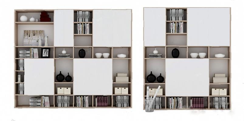 书柜3D模型【ID:920027506】
