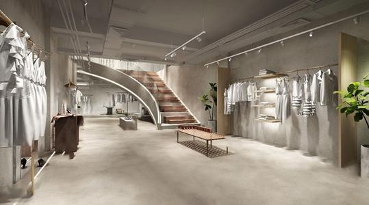 現代時尚女裝服飾商店3D模型【ID:120804718】