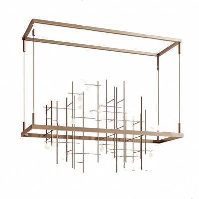 现代吊灯3D模型【ID:220602833】