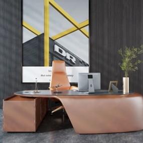 现代办公桌椅3D模型【ID:934736144】