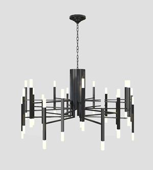 现代金属吊灯3D模型【ID:531947814】