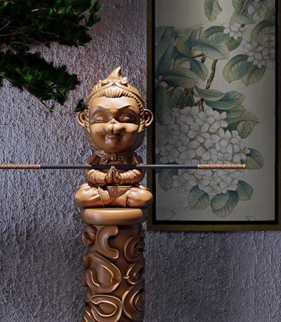 齊天大圣孫小空雕塑擺件組合3D模型【ID:328242844】