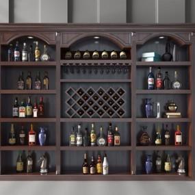 欧式酒柜3D模型【ID:928197014】