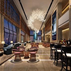 酒店大厅3D模型【ID:427942250】